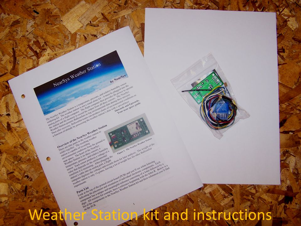 Parts in Weather Station kit