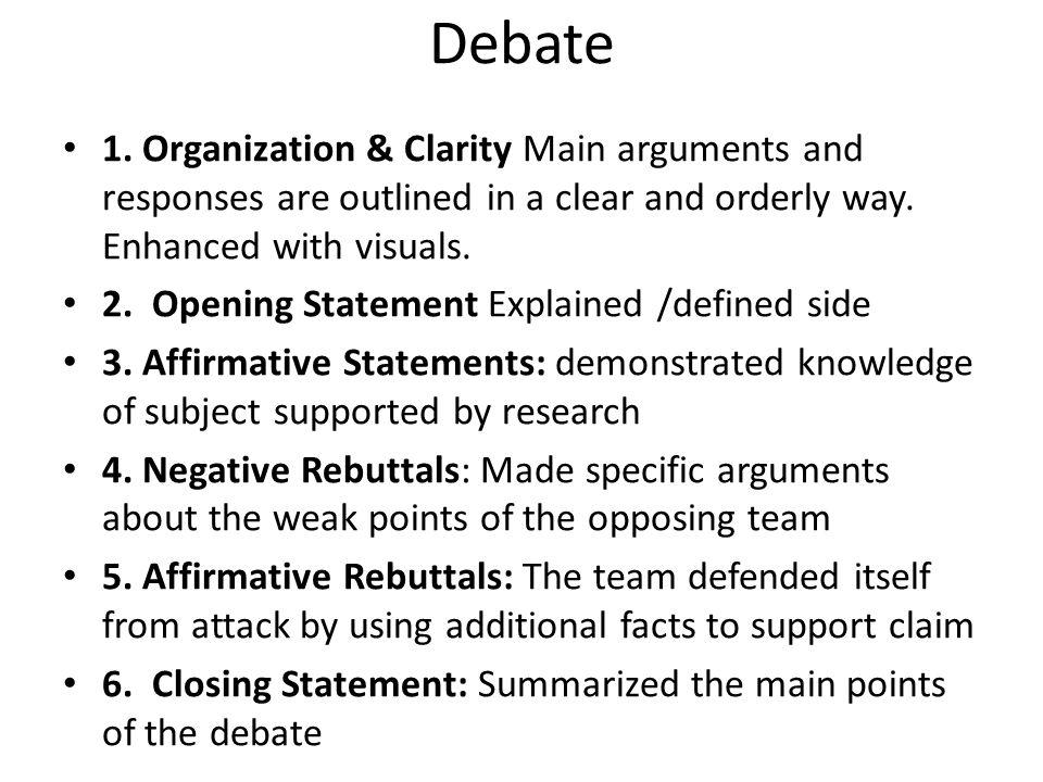 Debate 1.
