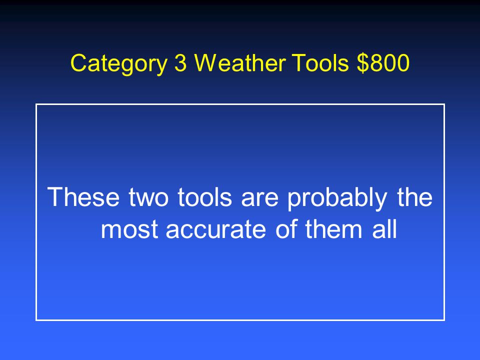 Category 3 Weather Tools $600 This weather tool measures precipitation
