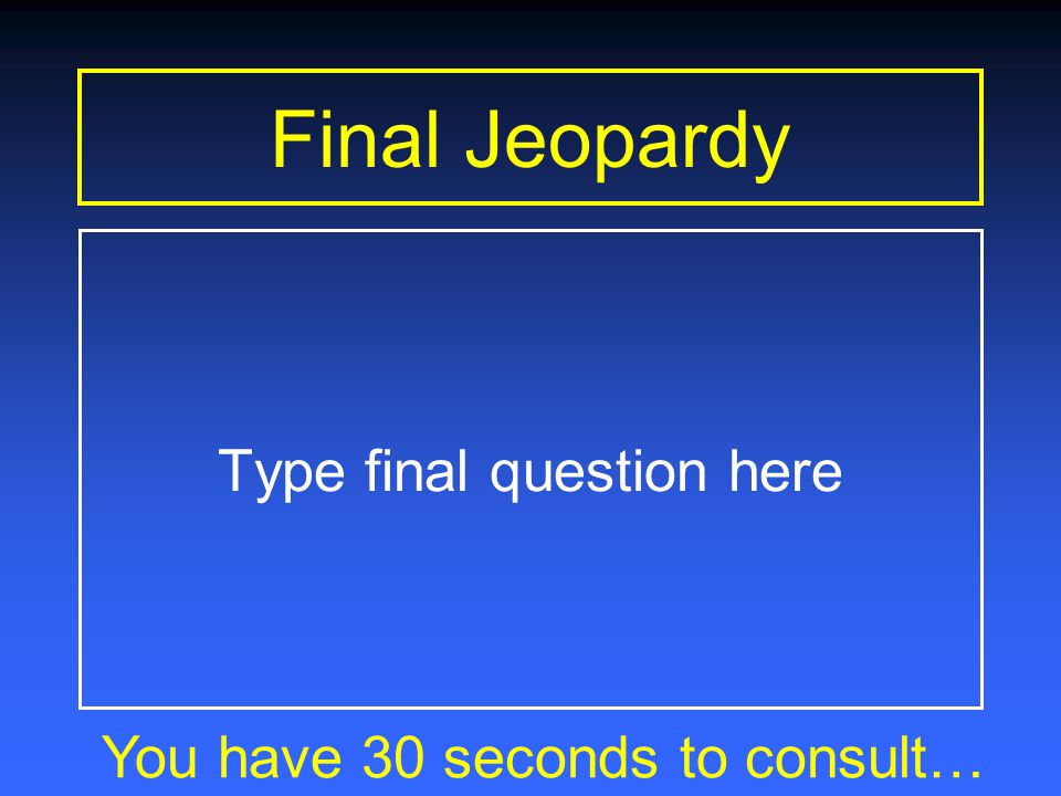 Final Jeopardy You have 1 minute to consult… The winds move heat from the tropical regions toward the poles in a never-ending effort to reach a temper