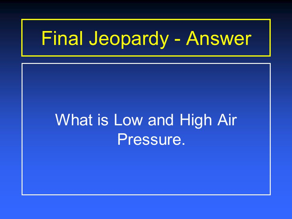 Final Jeopardy Time Is Up Type final question here