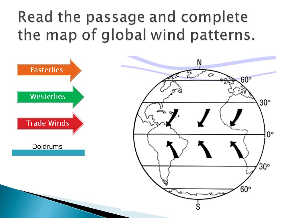 A global pattern is a trend seen throughout the world. Global winds and ocean currents are examples of global patterns. Climate has global patterns. T