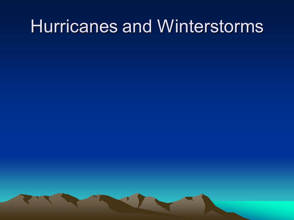 Hurricanes and Winterstorms
