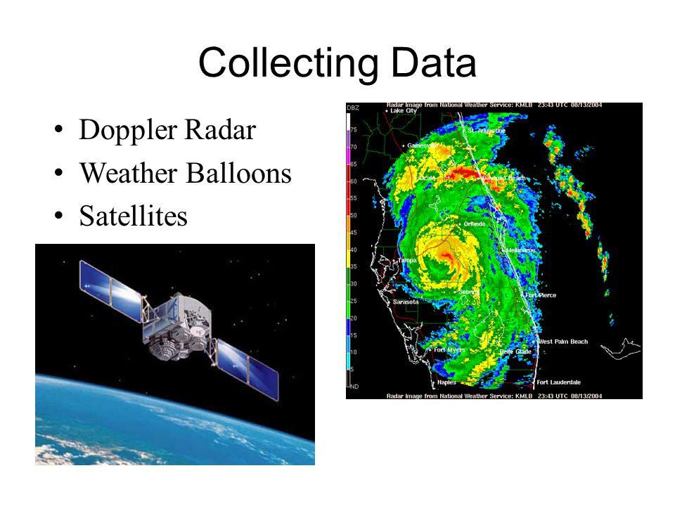 Collecting Data Doppler Radar Weather Balloons Satellites