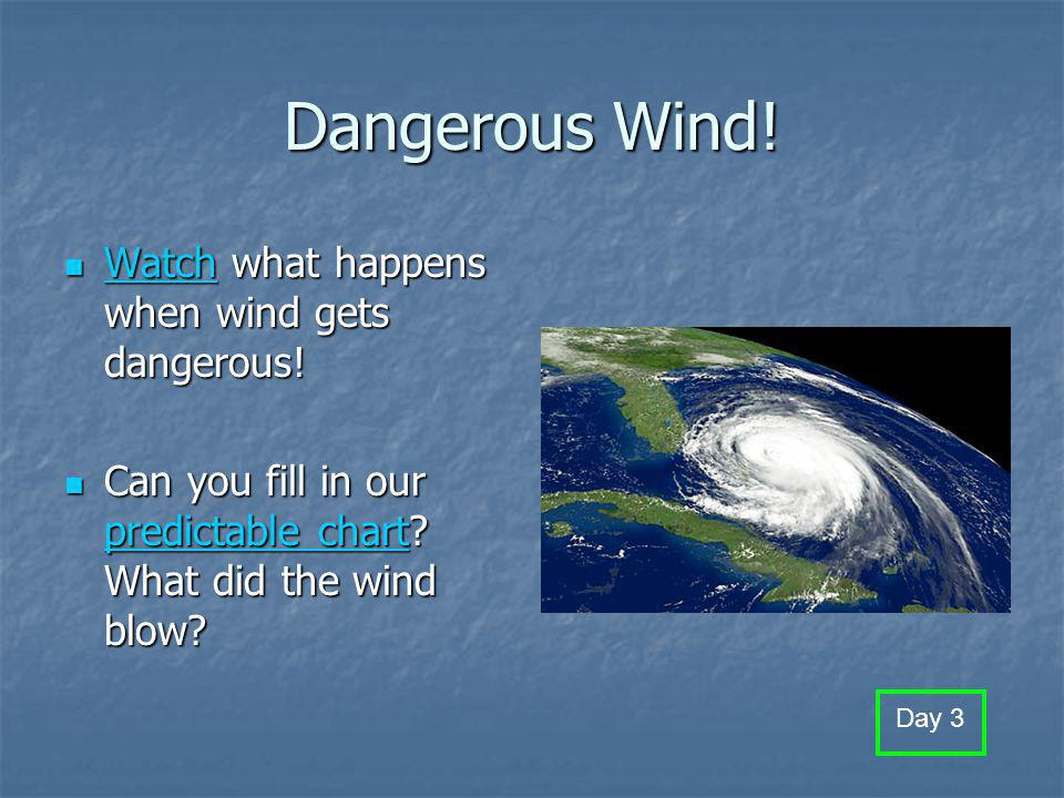What can wind do? (use with science flipchart pg. 36) What happens outside when it is very windy? What happens outside when it is very windy? How is t
