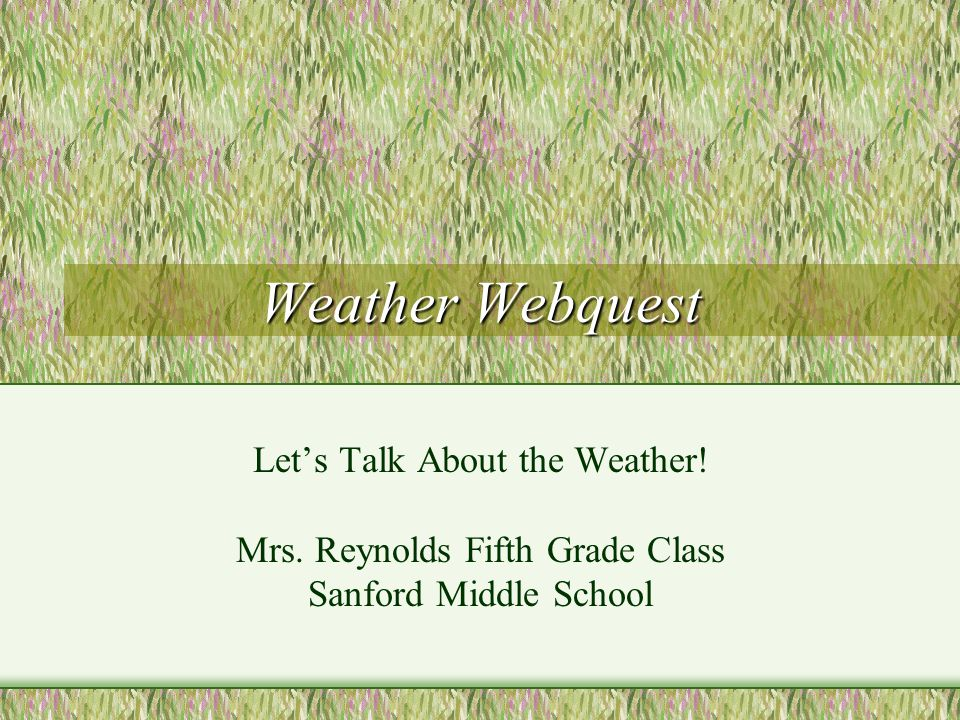 Welcome to weather.
