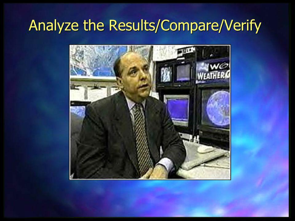 Analyze the Results/Compare/Verify