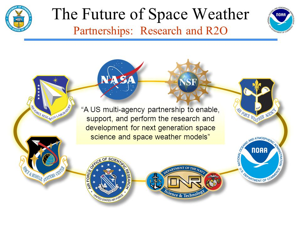 The Future of Space Weather Partnerships: Research and R2O A US multi-agency partnership to enable, support, and perform the research and development