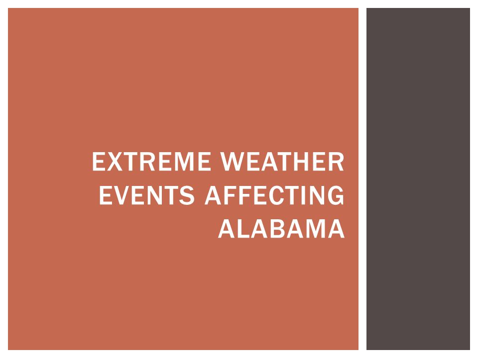EXTREME WEATHER EVENTS AFFECTING ALABAMA