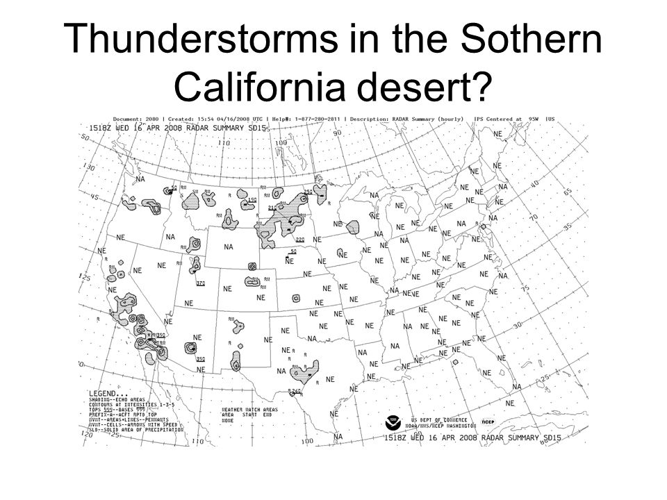 Thunderstorms in the Sothern California desert?