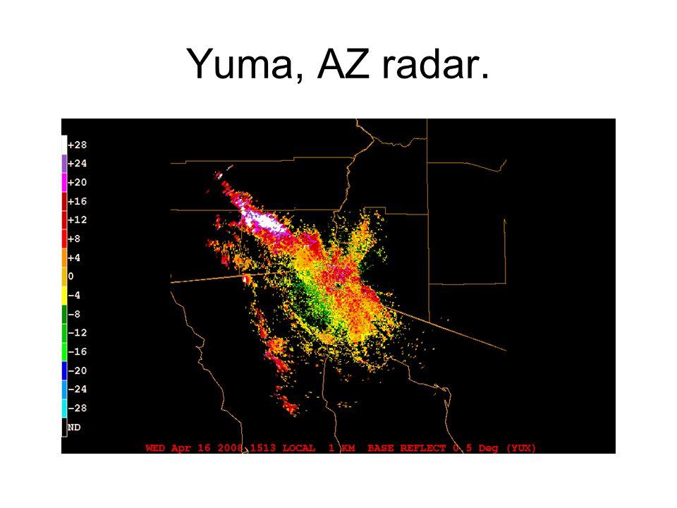 Yuma, AZ radar.