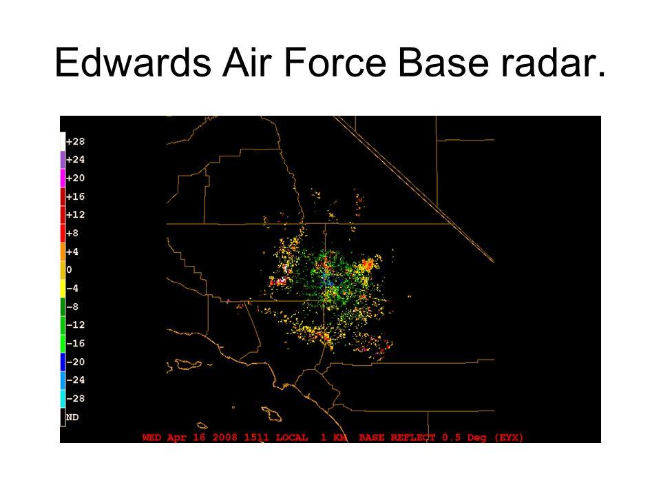 Edwards Air Force Base radar.