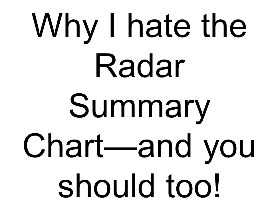Why I hate the Radar Summary Chartand you should too!