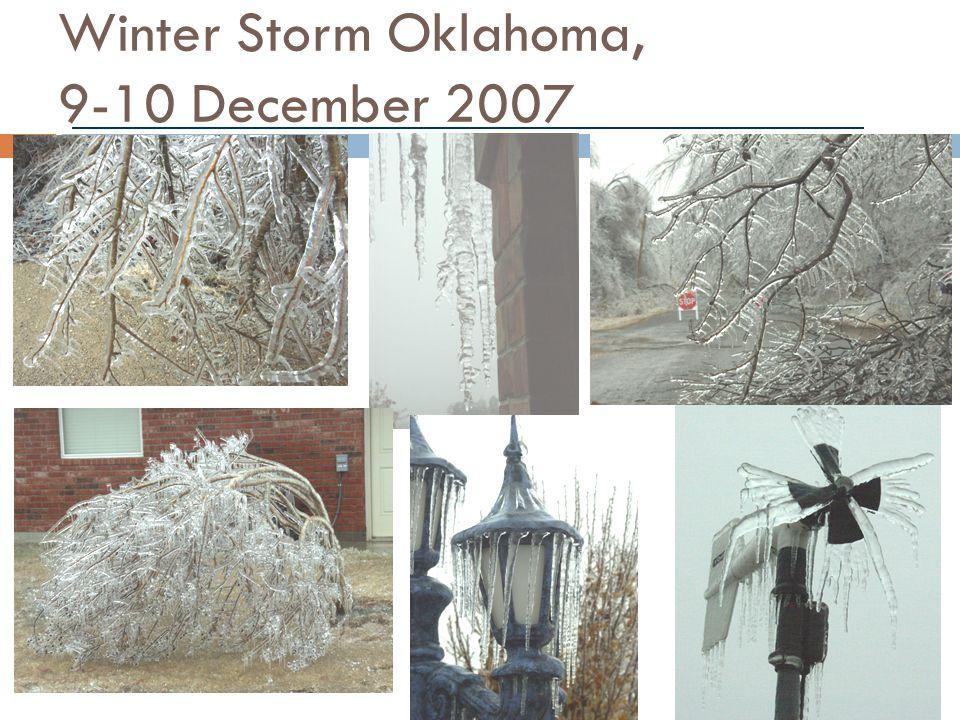 Winter Storm Oklahoma, 9-10 December 2007