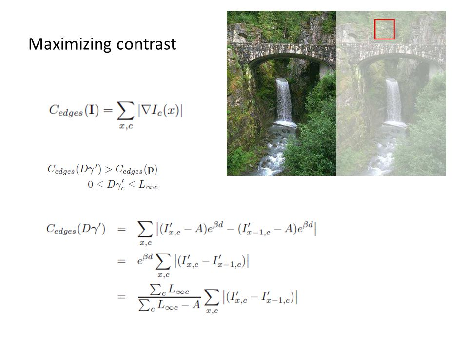 Maximizing contrast