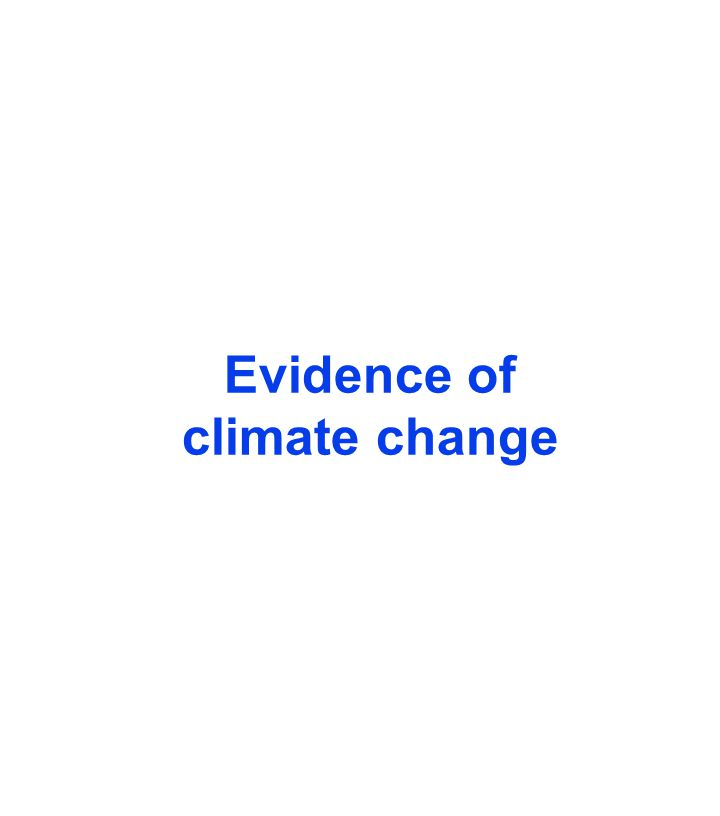 Evidence of climate change