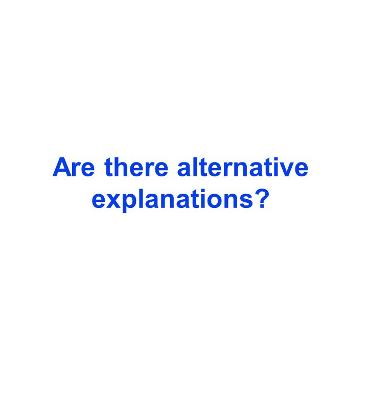 Are there alternative explanations