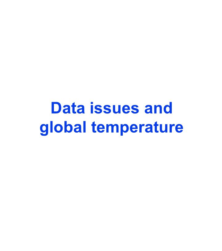 Data issues and global temperature
