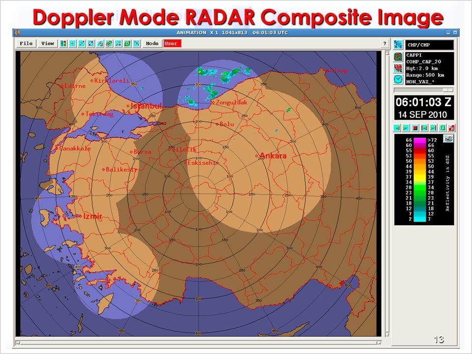 Doppler Mode RADAR Composite Image 13