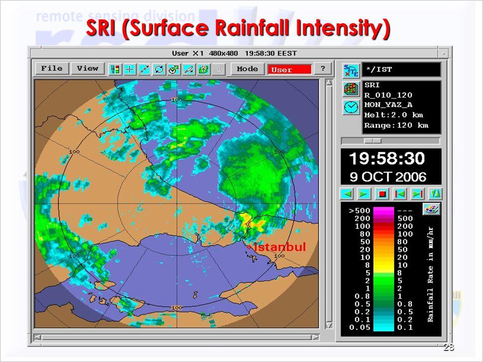 SRI (Surface Rainfall Intensity) 28
