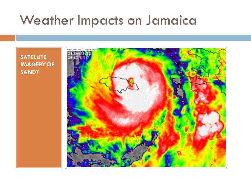 Weather Impacts on Jamaica SATELLITE IMAGERY OF SANDY