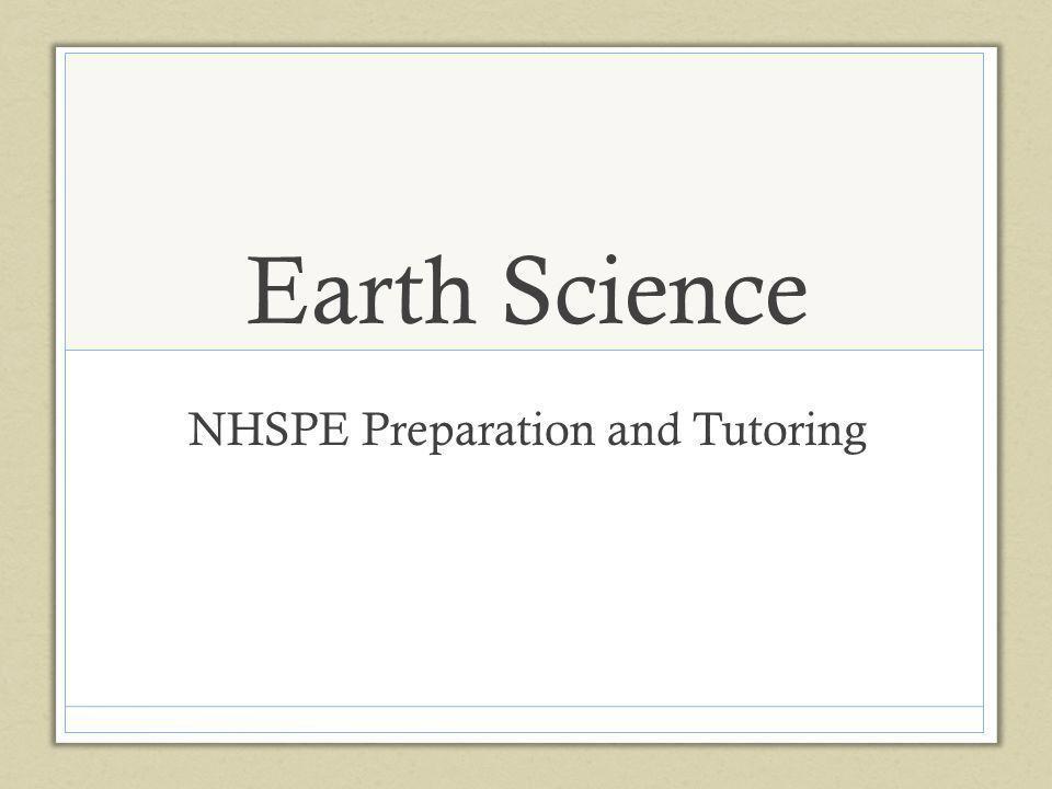 Earth Science NHSPE Preparation and Tutoring
