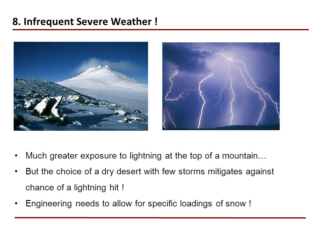 8.Infrequent Severe Weather .