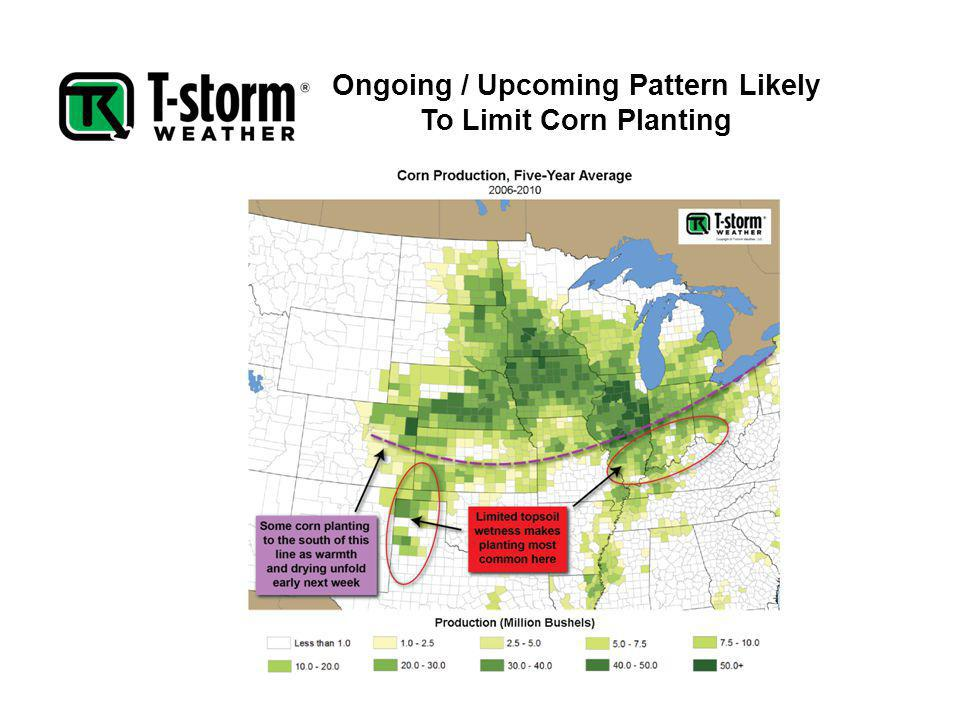 Ongoing / Upcoming Pattern Likely To Limit Corn Planting
