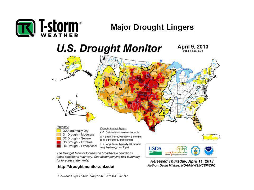 Major Drought Lingers Source: High Plains Regional Climate Center