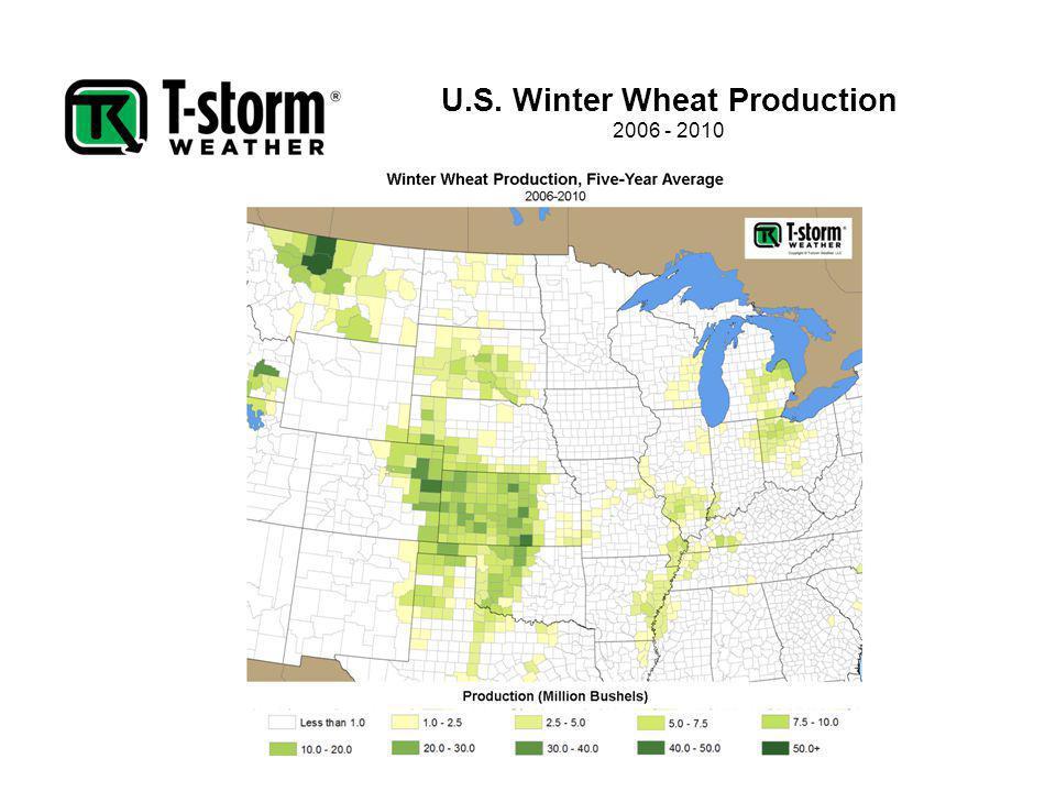 U.S. Winter Wheat Production 2006 - 2010