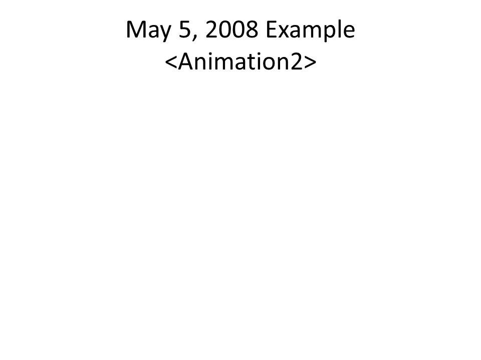 May 5, 2008 Example