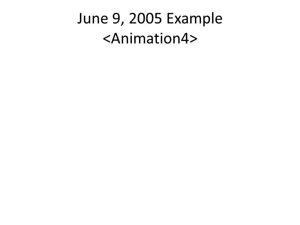 June 9, 2005 Example