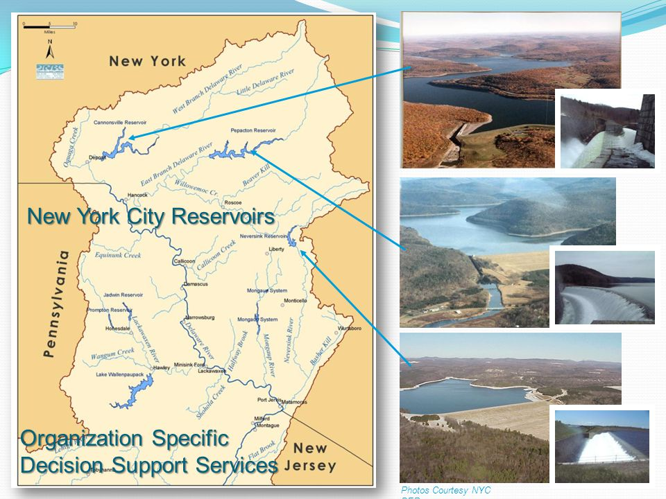 Photos Courtesy NYC DEP New York City Reservoirs Organization Specific Decision Support Services