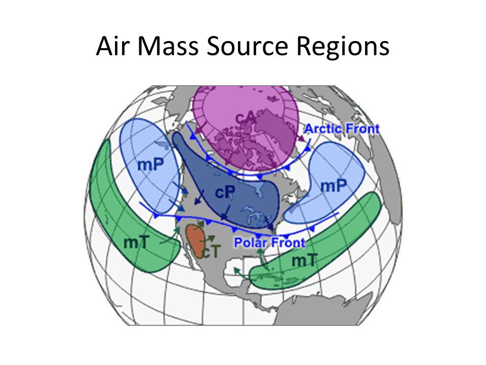 Air Mass Source Regions