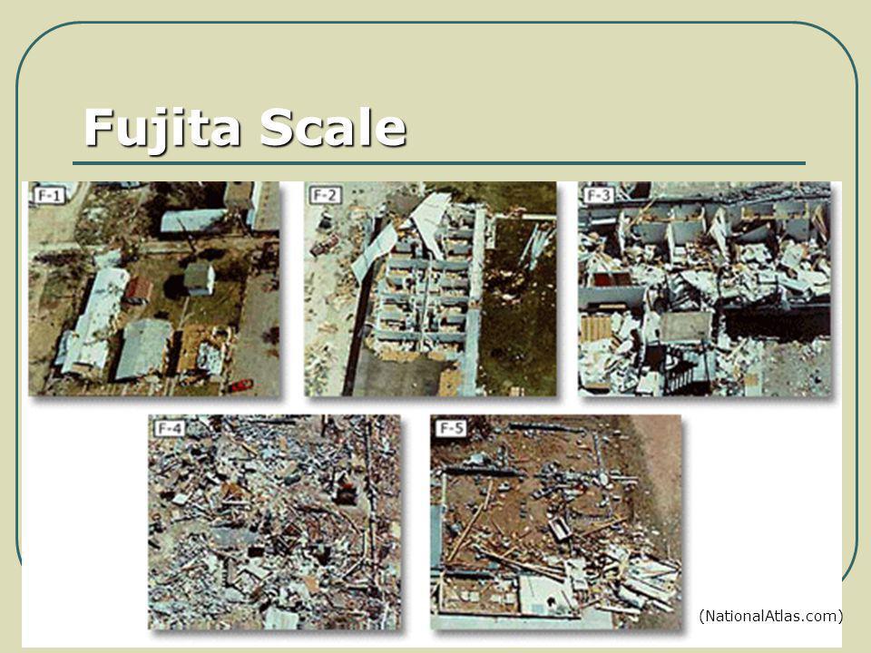 Fujita Scale (NationalAtlas.com)