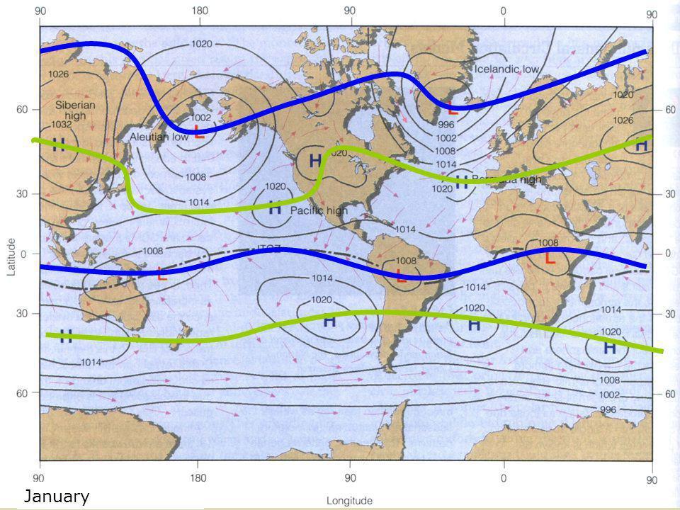 January Global Pressure Map January