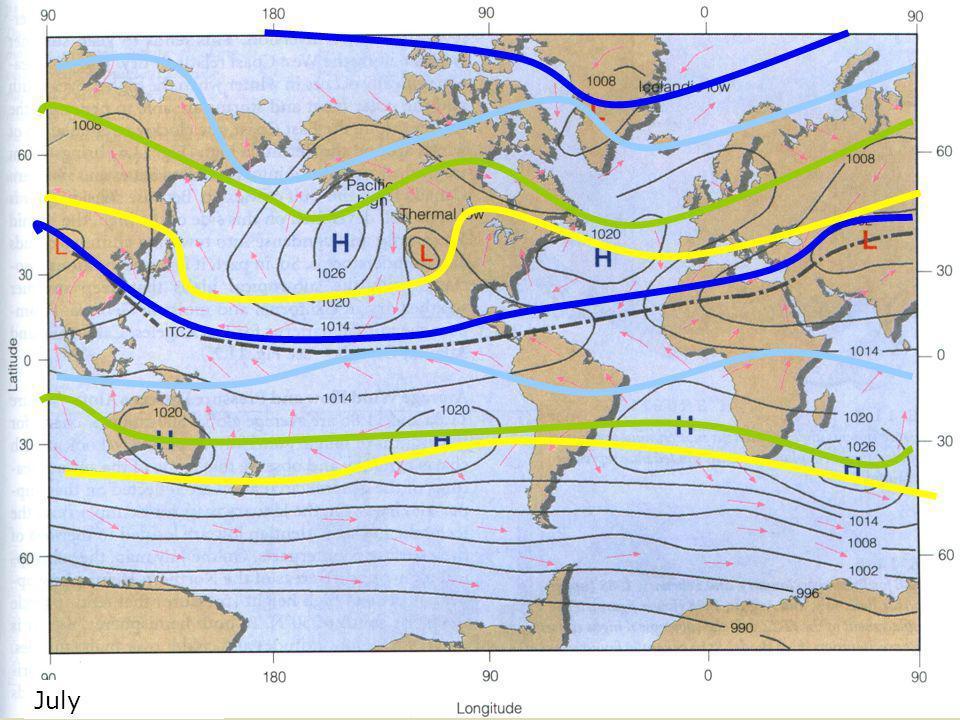 July Global Pressure Map July