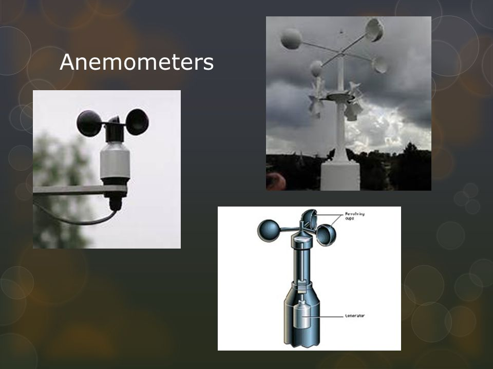 Anemometer What is it.An instrument for measuring and indicating the force or speed of wind.