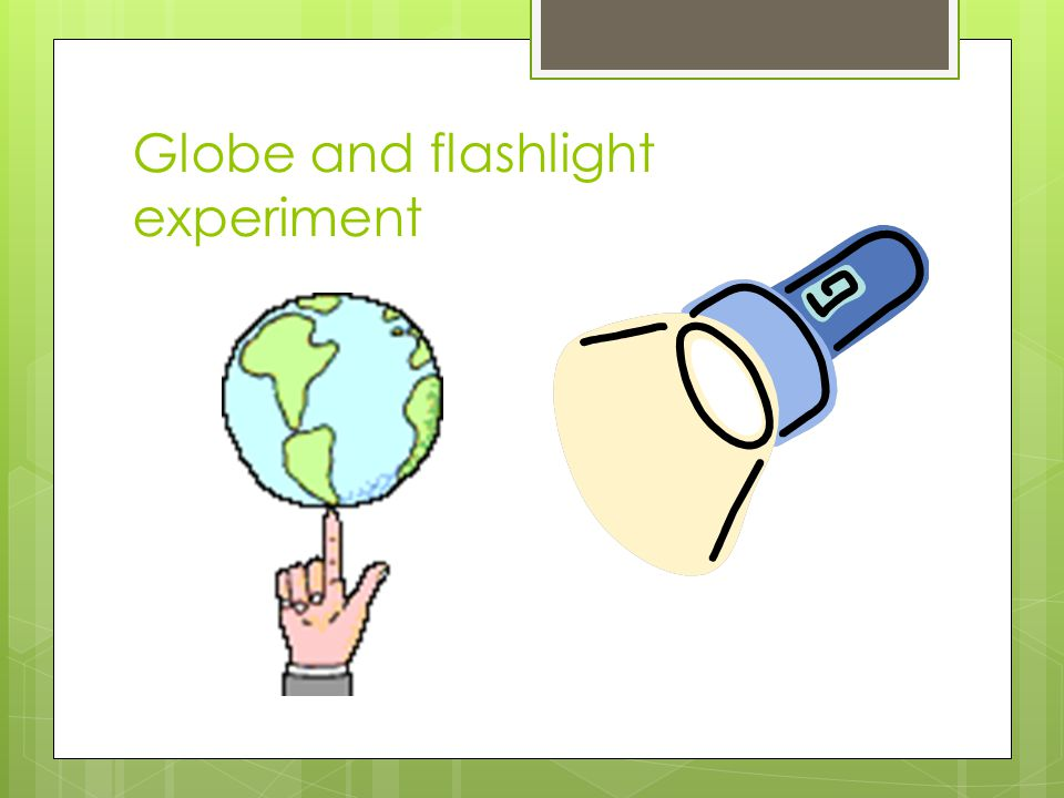 Key points When the flashlight is on a region what season is that region experiencing.
