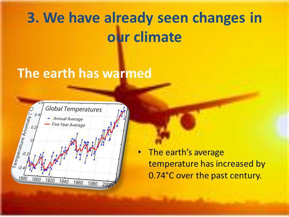 The world has seen changes in amount, intensity, frequency and type of precipitation.