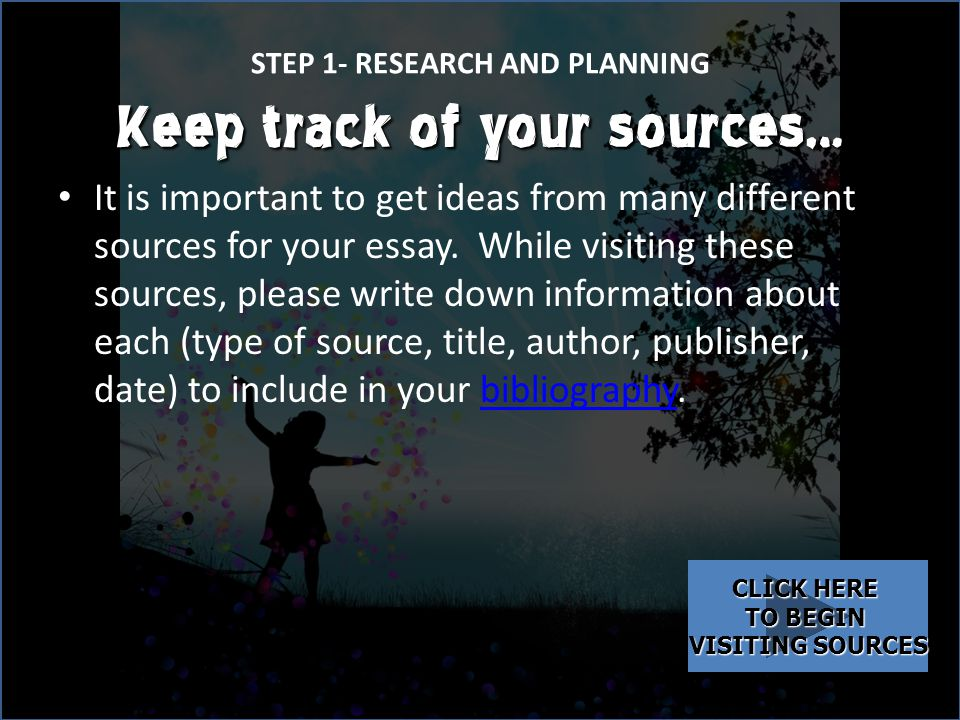 STEP 1- RESEARCH AND PLANNING Now you must research this weather-related issue so that you can write about it in your essay.research When doing research, it is important to use keywords and phrases to take notes from a variety of sources.researchkeywordsphrasessources – While doing your research, write (on index cards from your teacher) keywords and phrases that you find in your sources that give more information about the weather issue that you chose.