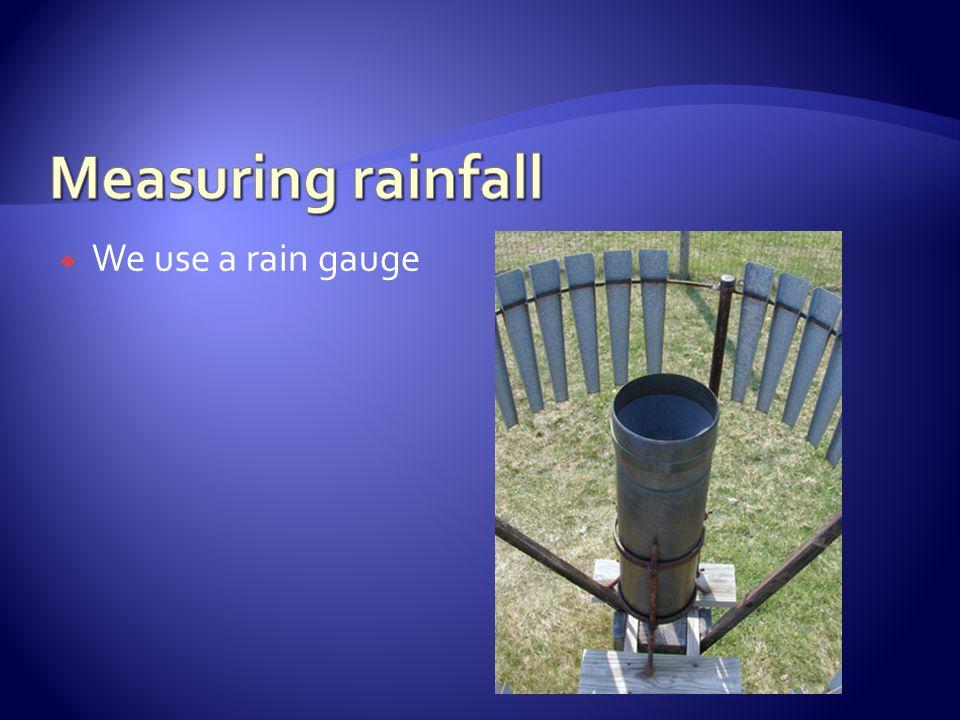 We use a rain gauge