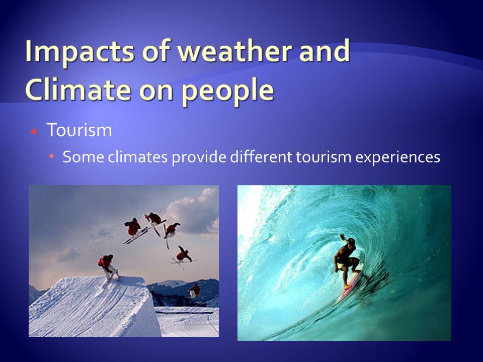 Tourism Some climates provide different tourism experiences