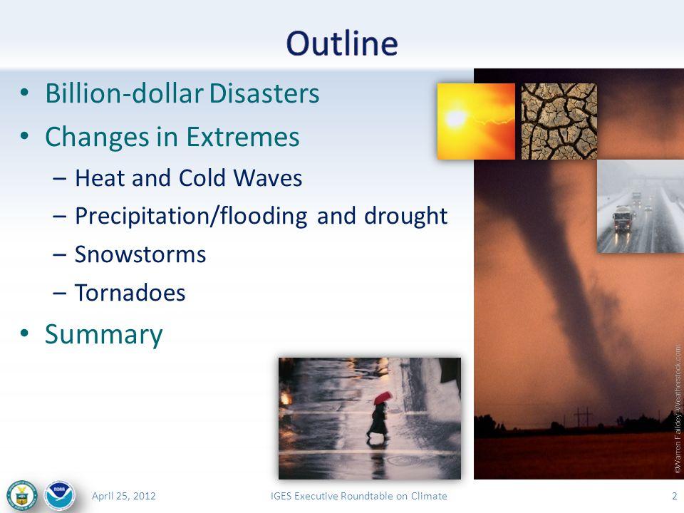 IGES Executive Roundtable on ClimateApril 25, 2012 13 NOAA U.S.