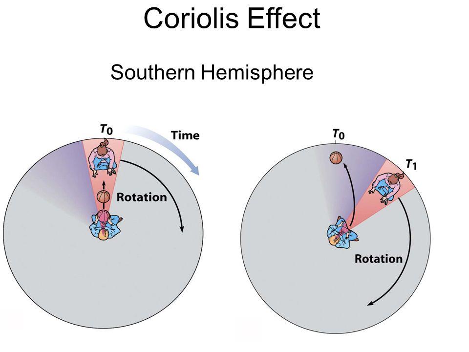 Coriolis Effect Southern Hemisphere