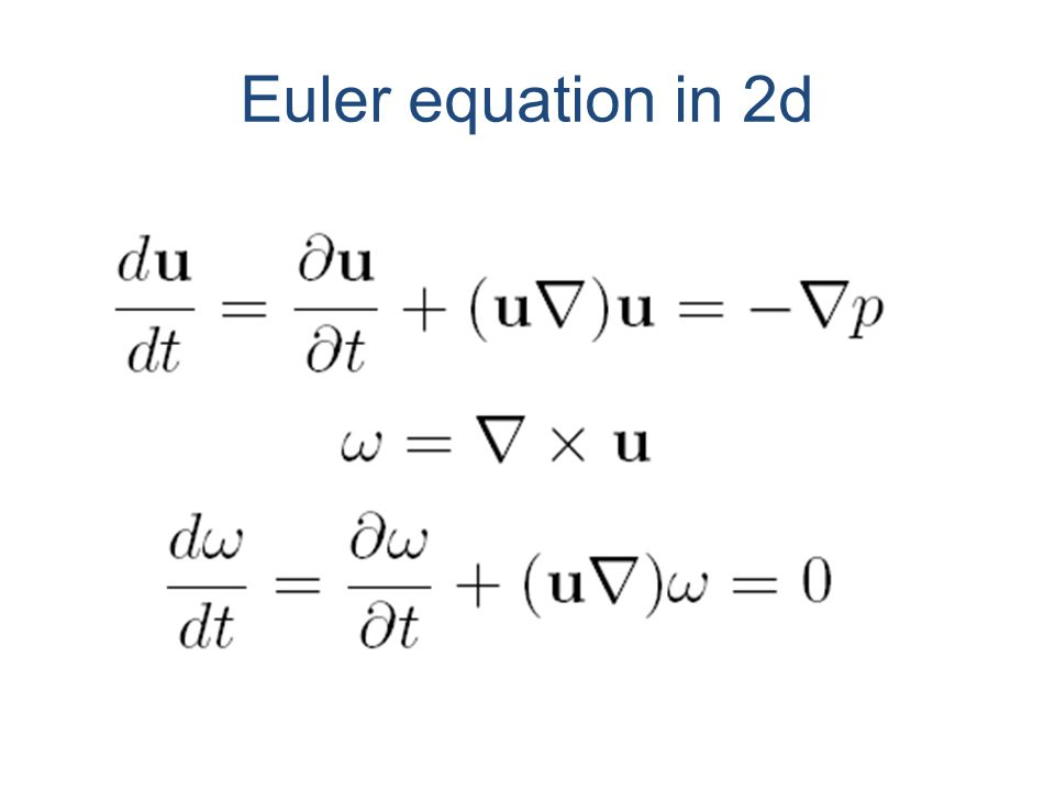 Euler equation in 2d