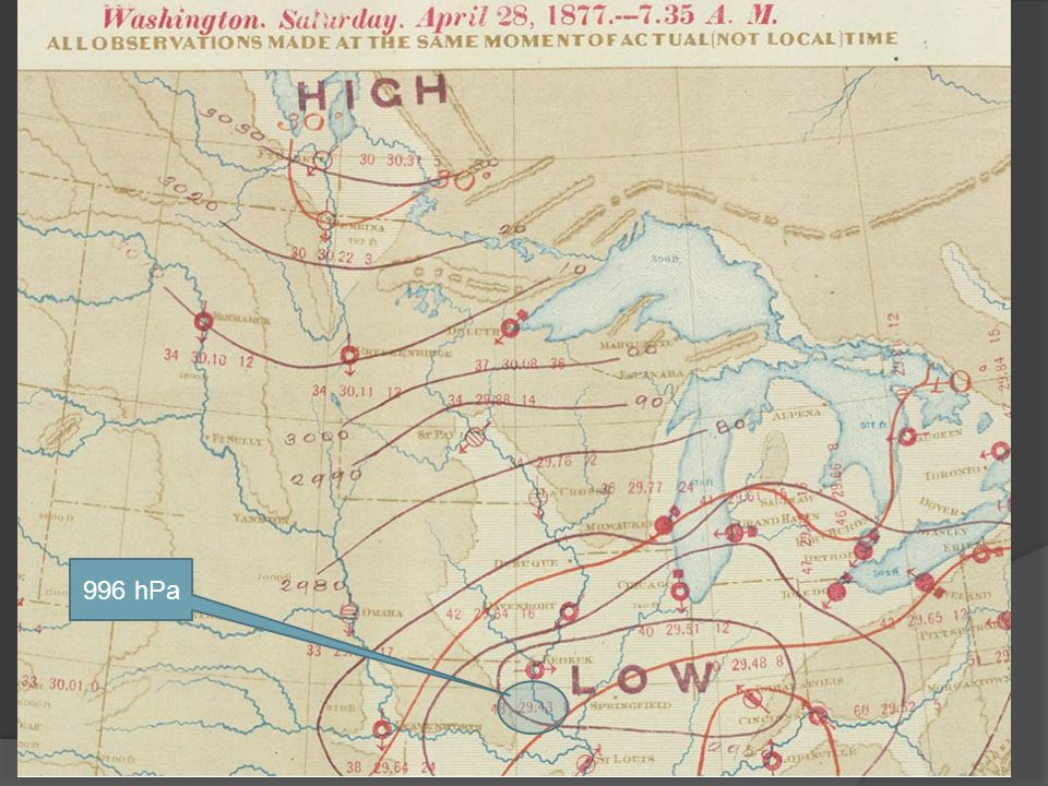 6 storm total at Genoa, NE 996 hPa