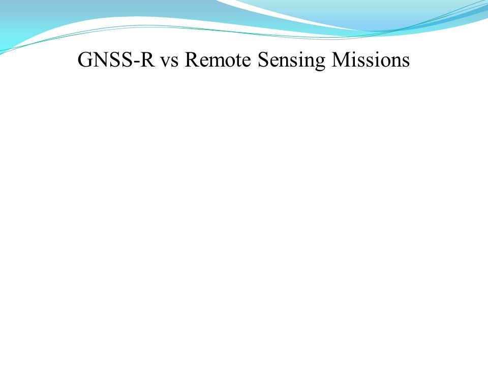 GNSS-R vs Remote Sensing Missions