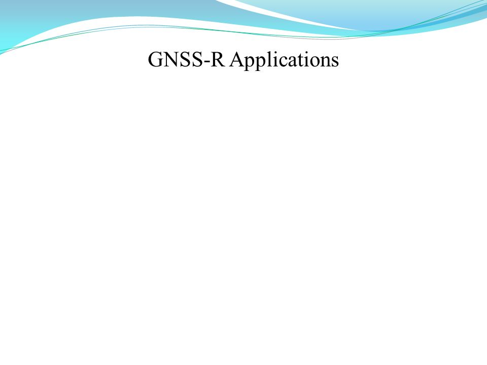 GNSS-R Applications