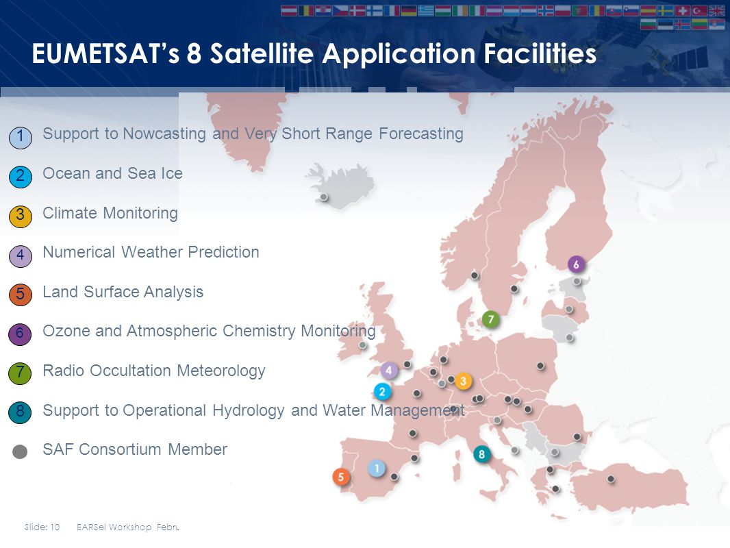 Slide: 10 EARSel Workshop February 2014 Bern EUMETSATs 8 Satellite Application Facilities Support to Nowcasting and Very Short Range Forecasting Ocean